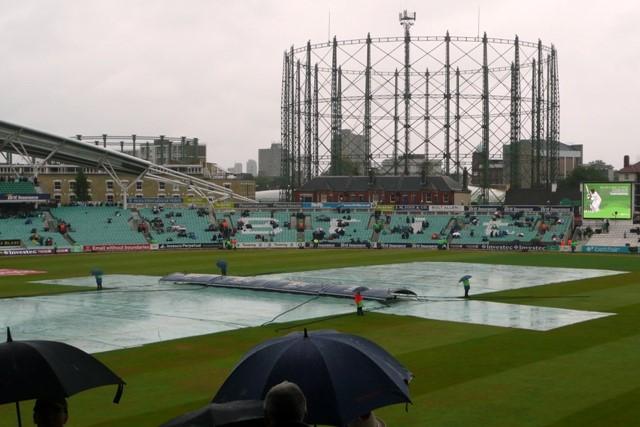 Raining at Cricket Match