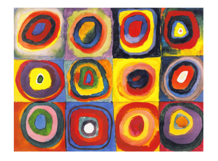Kandinsky 'Color Study. Squares with Concentric Circles'