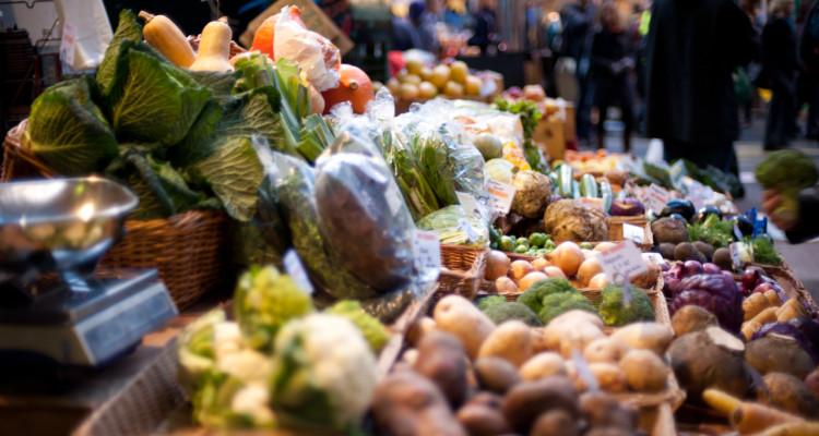 Vegetable stall photo by Jack Gavigan 2009