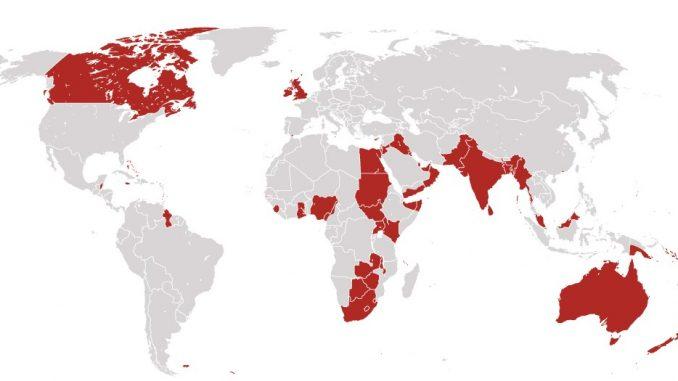 The British Empire in 1919 – From WashingtonPost.com