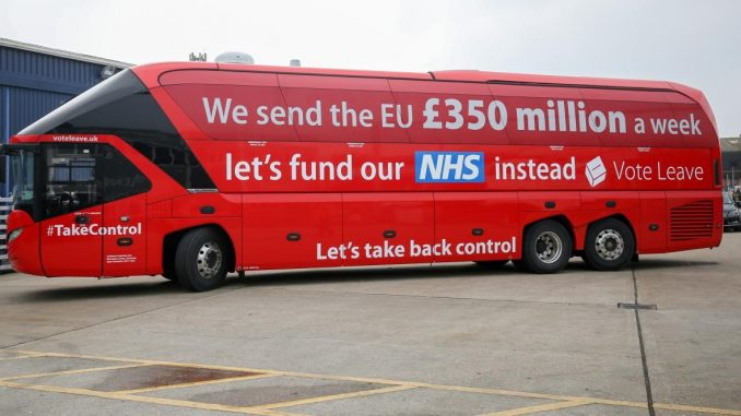 The Leave Campaign's bus - From TheTimes.co.uk